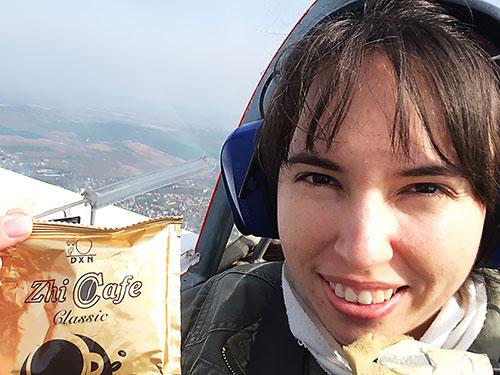 Repülés közben is kávé