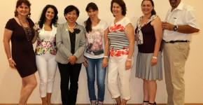 Csoportkép Jane Yau ganoterapeutával