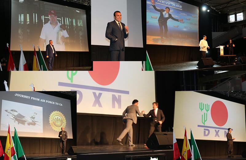 DXN csúcsvezetők a színpadon
